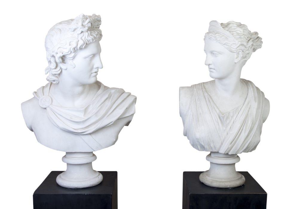Das antike Zwillingspaar Apollo und Diana