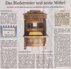 Zeitungsartikel - Biedermeier